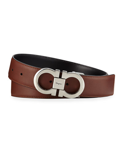 Men's Gancini Reversible Leather Belt