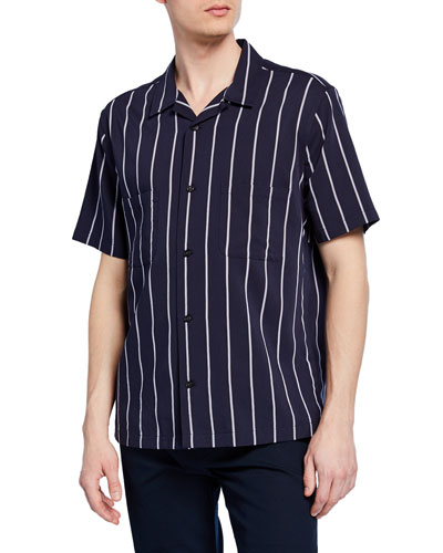 Men's Striped Cabana Sport Shirt