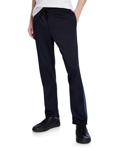 Men's Side-Stripe Drawstring Track Pants