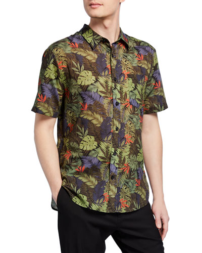 Men's California Print Short-Sleeve Sport Shirt