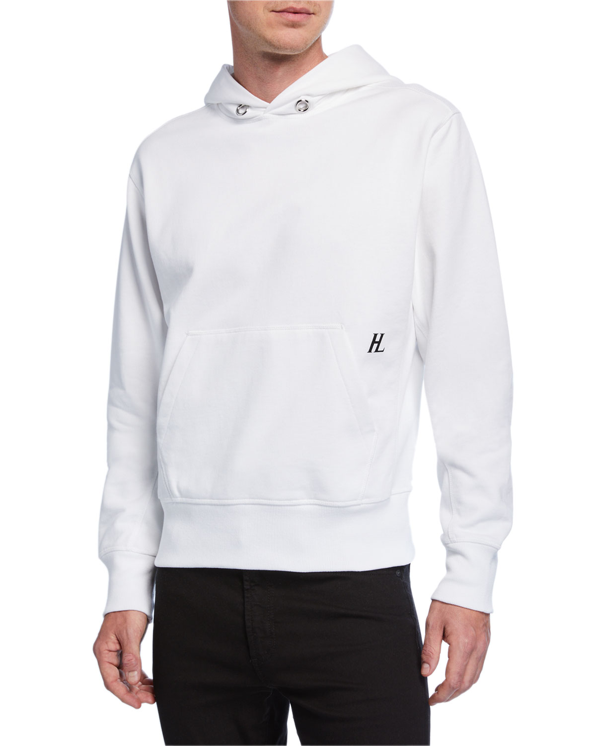 Helmut Lang Tops MEN'S LITTLE LOGO PULLOVER HOODIE