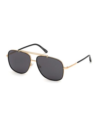Men's Yellow Golden Aviator Sunglasses