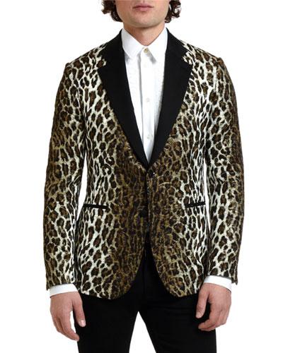 Men's Leopard-Print Evening Jacket