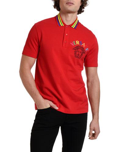 Men's Multicolor Medusa Polo Shirt