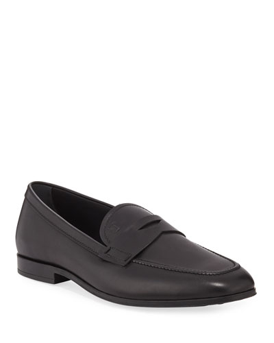 Men's Slim Mocassino Leather Loafers