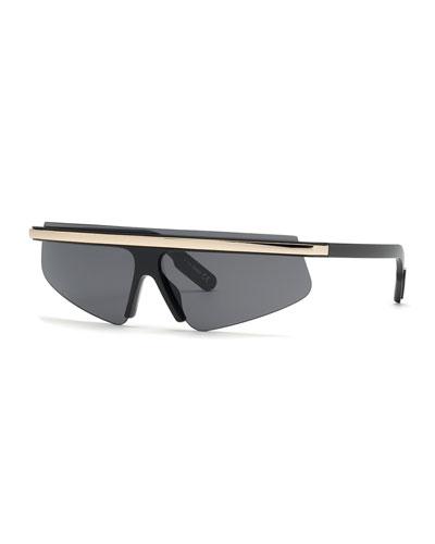 Men's Flat-Top Half-Rim Sunglasses