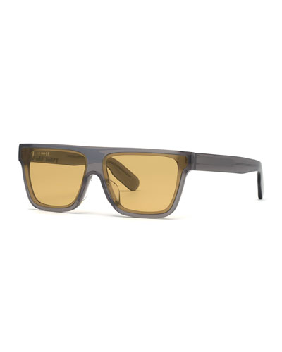 Men's Flat-Top Acetate Sunglasses