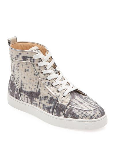 Men's Rantus Tie-Dye Linen High-Top Sneakers