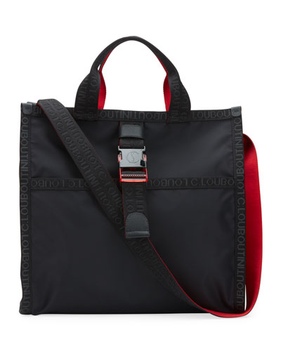 Men's Loubiclic Nylon Logo Tote Bag