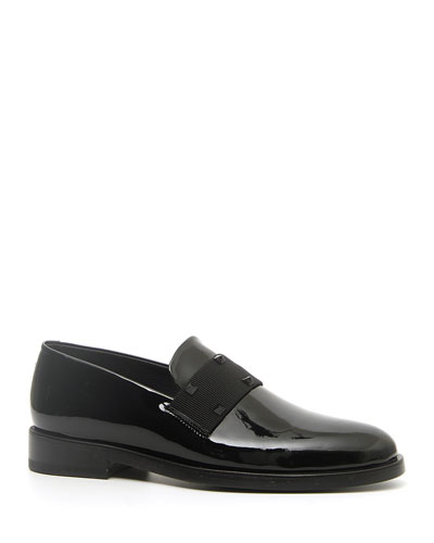 Men's Rockstud Patent Leather Tuxedo Loafers