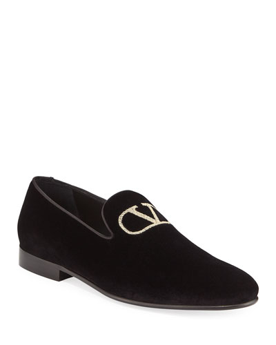 Men's Embroidered Go Logo Slip-On Loafers