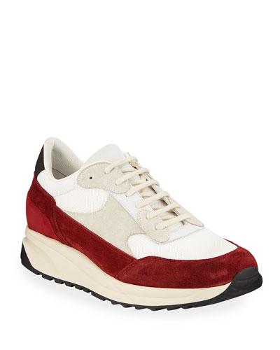Men's Track Classic Colorblock Suede Sneakers