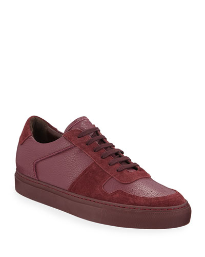 Men's BBall Low-Top Leather Sneakers