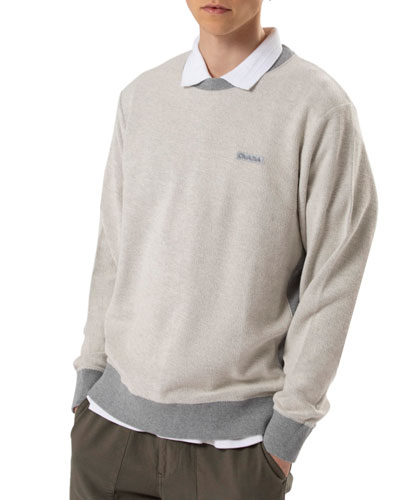 Men's Crewneck Cotton Sweater