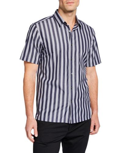 Men's Irving Striped Short-Sleeve Sport Shirt