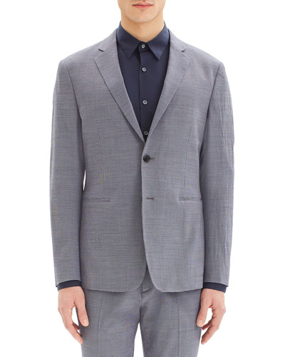 Men's Clinton Houndstooth Seer Two-Button Blazer