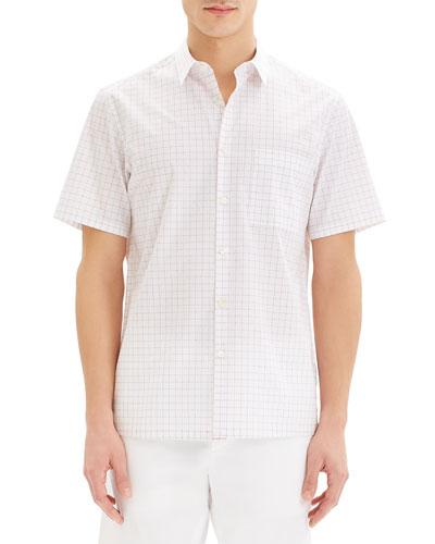 Men's Irving Grid Short-Sleeve Sport Shirt