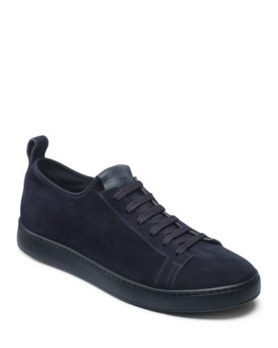 Men's Suede Slip-On Stretch Sneakers