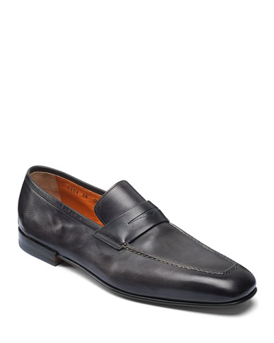 Men's Fox Leather Penny Loafers