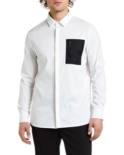 Men's Nylon-Pocket Sport Shirt