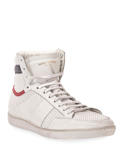 Men's Leather High-Top Sneaker