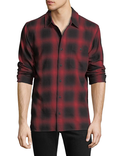 Men's Grid-Print Sport Shirt
