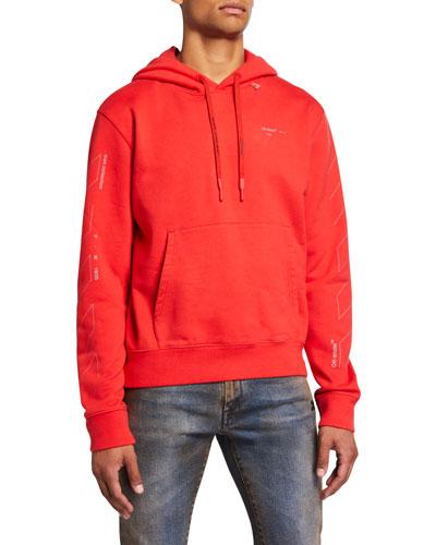 Men's Unfinished Logo Hoodie Sweatshirt