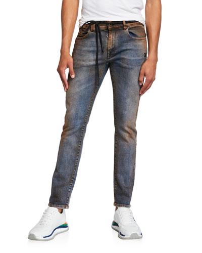 Men's Arrow Short Skinny Dirty Jeans