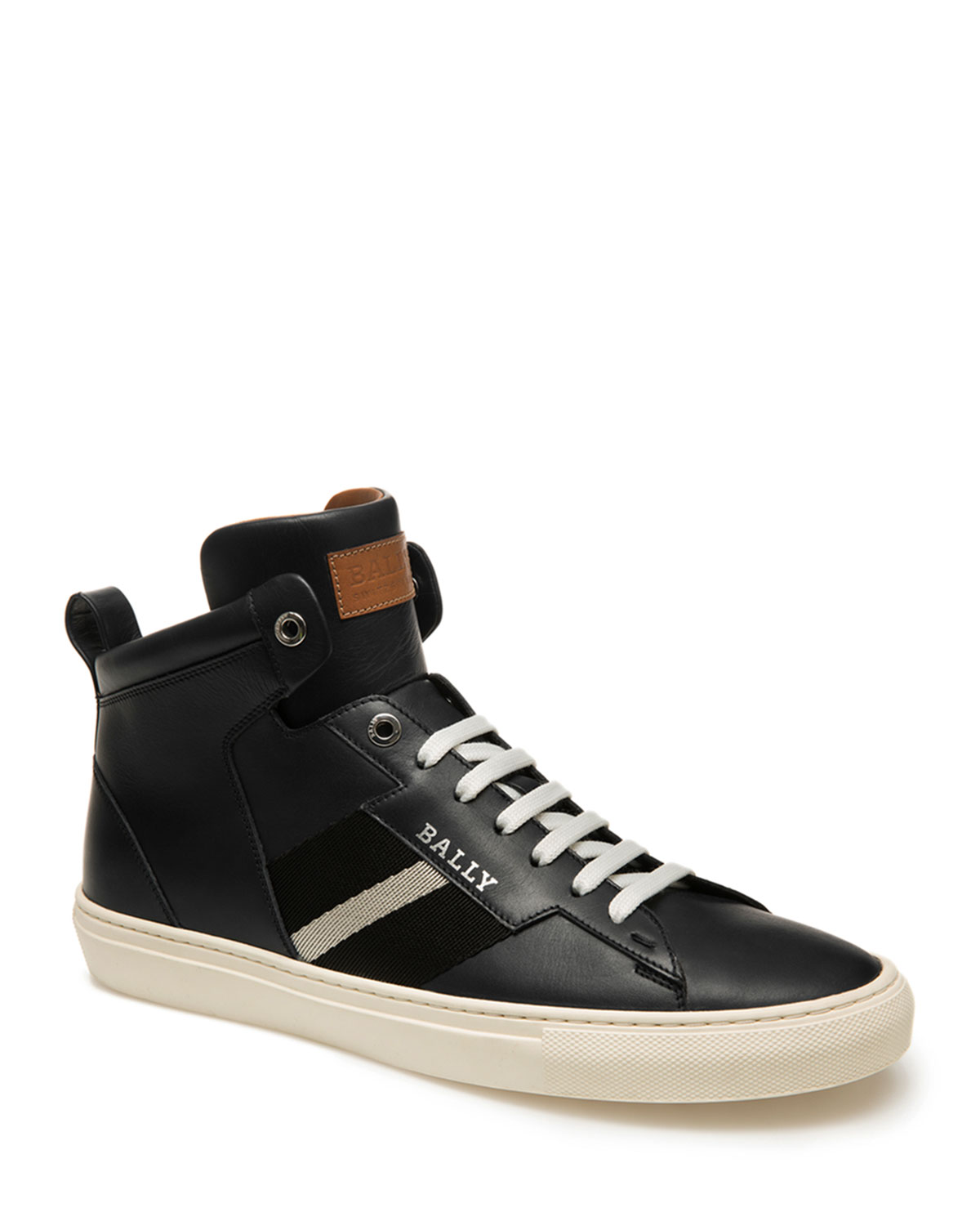 Bally Sneakers MEN'S HELVIO TRAINSPOTTING LEATHER HIGH-TOP SNEAKERS