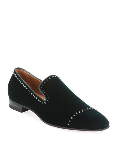 Men's Dandelion Velvet Mini-Spike Loafer