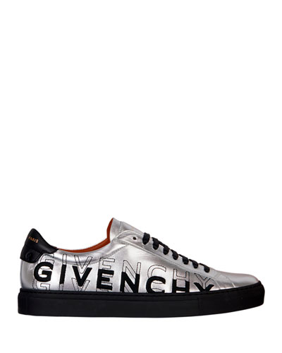 Men's Urban Street Metallic Logo Sneakers