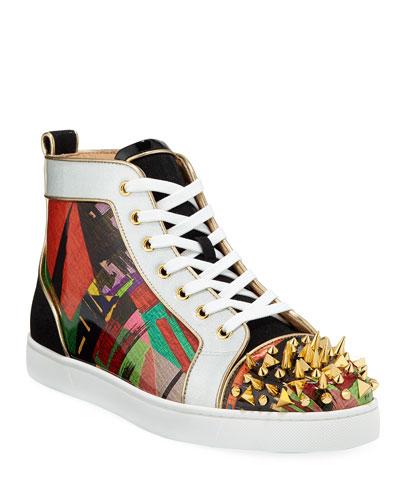 Men's Lou Pik Pik Orlato Multicolor Spiked Sneakers