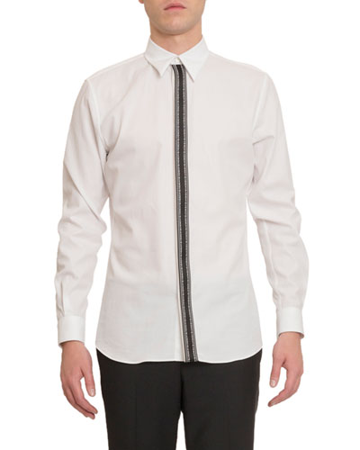 Men's Branded-Placket Sport Shirt