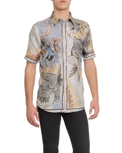 701bb5eb Men's Silk Graphic Print Shirt Quick Look. Givenchy