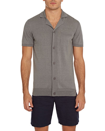 Men's Colman Cotton/Silk Button-Down Shirt