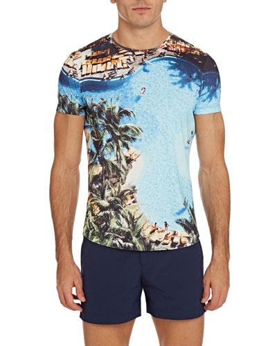 Men's OB-T Photographic Print Short-Sleeve T-Shirt