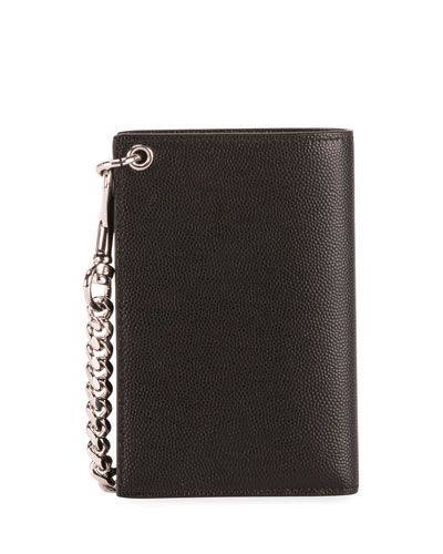 Men's North South Leather Chain Wallet