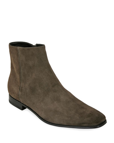 Men's Suede Side-Zip Ankle Boot