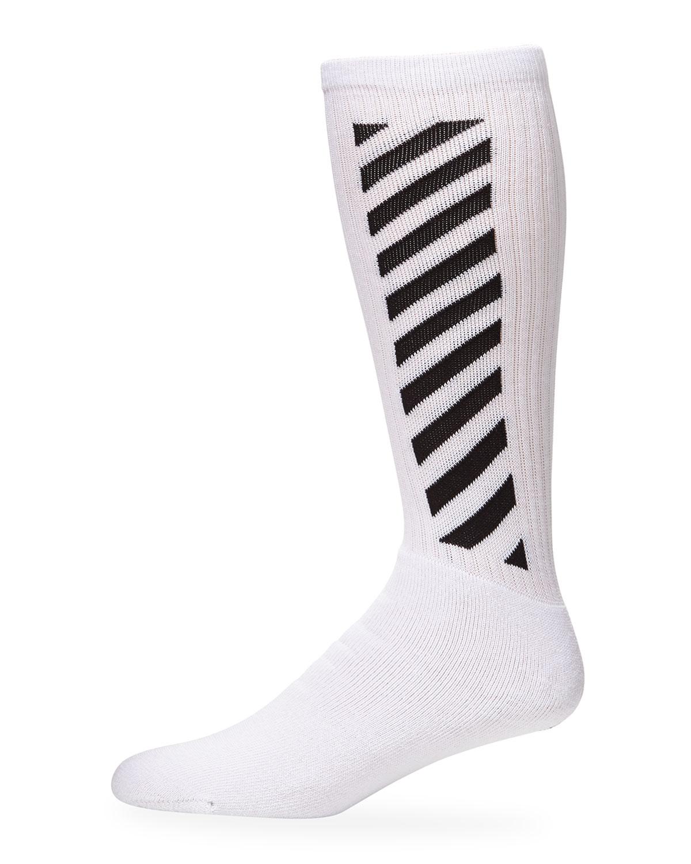 Off-White Socks MEN'S DIAGONAL-STRIPE MID-LENGTH SOCKS