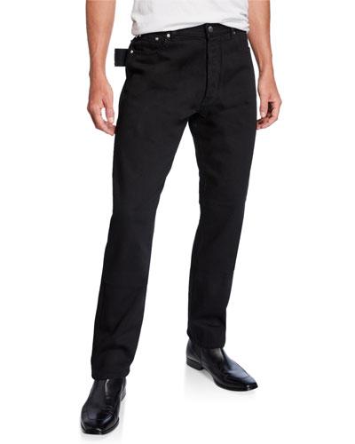 Men's Washed Denim Side-Loop Pants