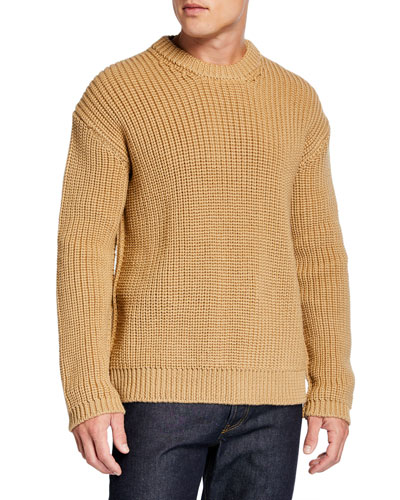 Men's Ribbed Wool Mouline Sweater