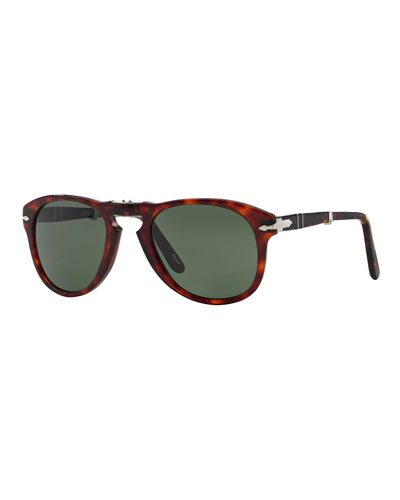 Men's Two-Tone Acetate Pilot Sunglasses