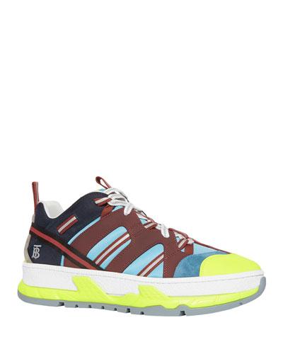 Men's RS5 Icon Stripe Mixed-Media Sneakers