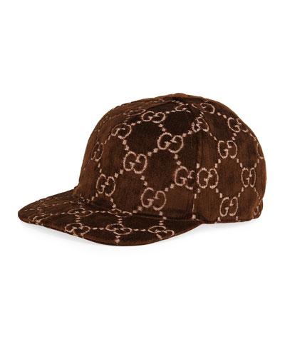 d97634c629f Men s Logo-Embroidered Velvet Baseball Hat