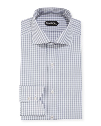 Men's Dobby Gingham Dress Shirt