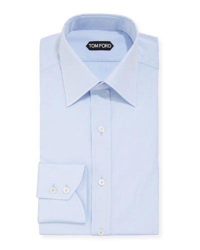 Men's Solid Poplin Dress Shirt