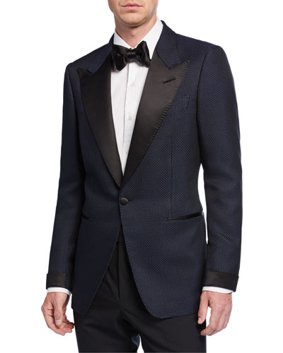 Men's Shelton Textured Evening Jacket