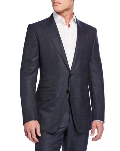 Men's O'Connor Check Wool Two-Piece Suit