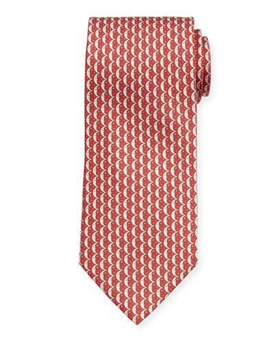 Men's Iluna Moon & Stars Silk Tie, Red