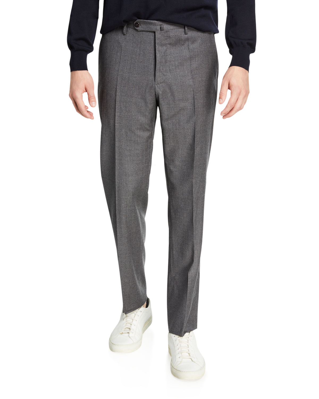Incotex Pants MEN'S TROPICAL WOOL STANDARD-FIT PANTS